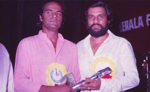 Bharat Gopy and KJ Yesudas - Film Critics Award Ceremony - 1983