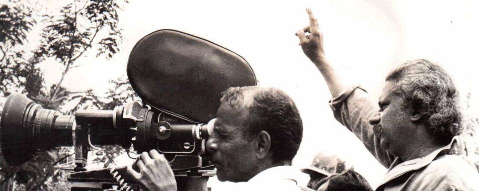 Adoor Gopalakrishnan with Mankada Ravi Varma, cinematographer