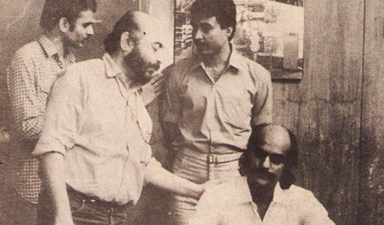Govind-Nihalani-directing-Bharat-Gopy-Aghaat-1985