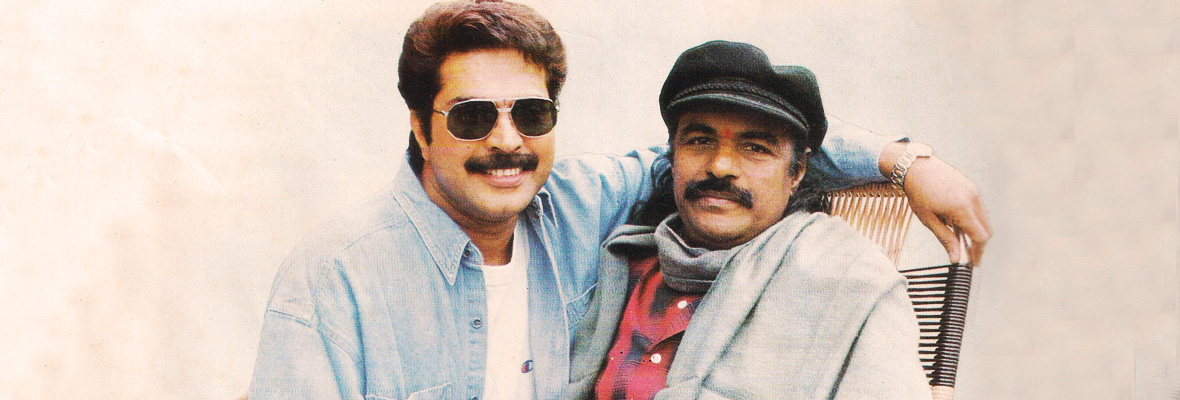 Mammootty-and-Bharat-Gopy-sets-of-Patheyam-1993