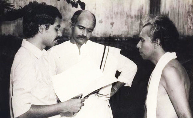 Sathyan Anthikkad directing Bharat Gopy and Nuhu - Appunni (1984)