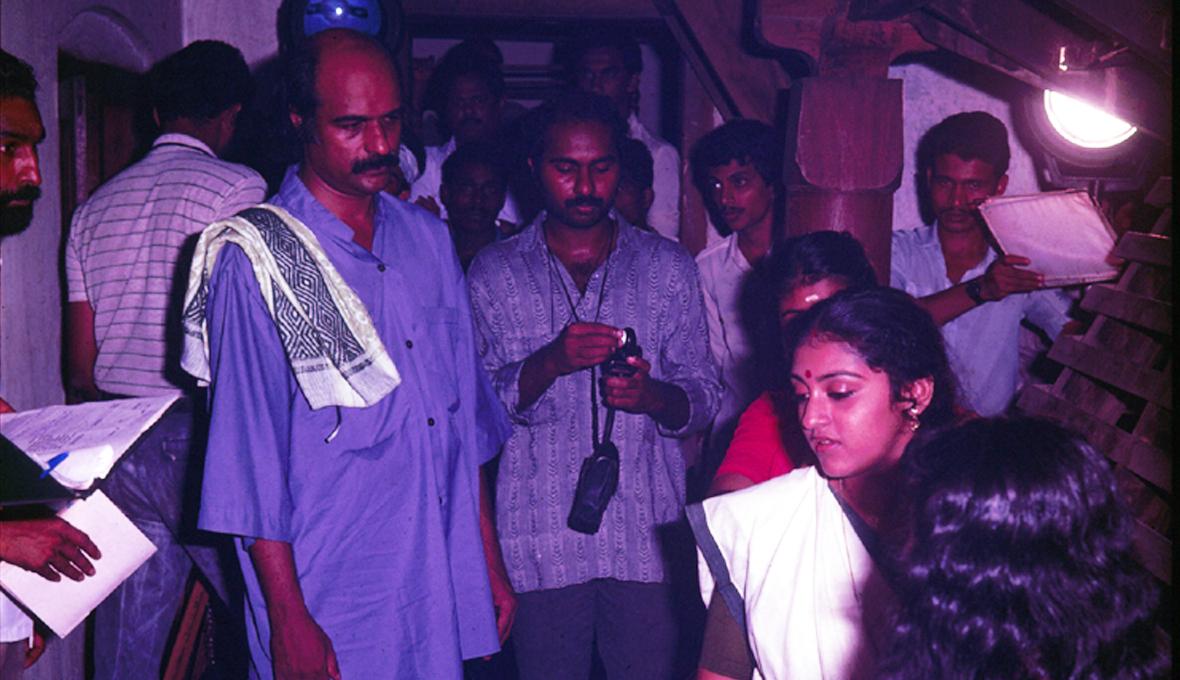 Bharat Gopy directing Parvathy in Ulsavapittennu