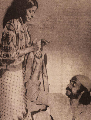 Bharat Gopy and Jalaja in Marmaram-(1982)