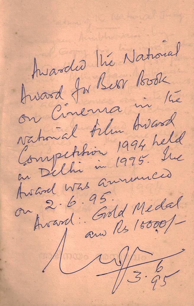 Bharat Gopy's Note in Abhinayam, Anubhavam