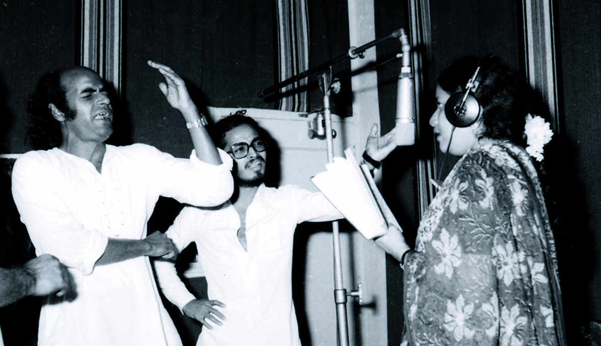 Bharat Gopy with Johnson and Vani Jayaram - At a Recording
