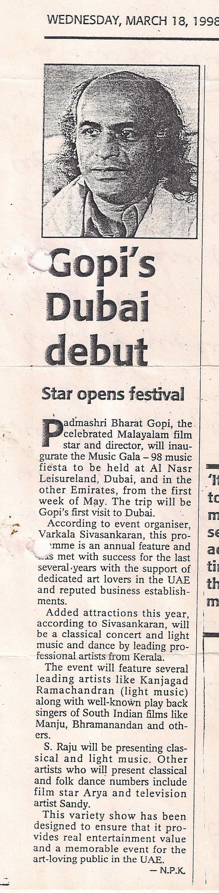 Gopy's-Dubai-Visit-Gulf-news-Tabloid--March-18-1998